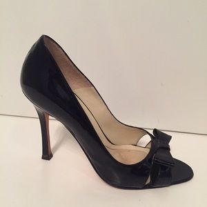BRIAN ATWOOD SHOES HEELS BLACK PATENT LEATHER 36 6